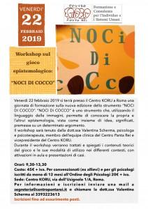 Workshop 22 Febbraio Noci di Cocco Roma